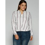 cheap Loose Striped Printed Blouse
