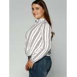 Loose Striped Printed Blouse deal