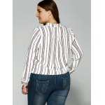 Loose Striped Printed Blouse for sale
