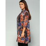 Floral Print Buttoned Chiffon Blouse deal