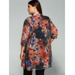 Floral Print Buttoned Chiffon Blouse for sale