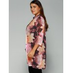 Floral Print Tie-Dyed Chiffon Blouse deal