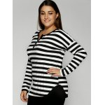 Slimming Striped Buttoned T-Shirt deal