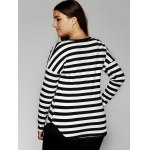 Slimming Striped Buttoned T-Shirt for sale