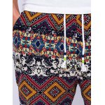 Ethnic Style Geometric Print Lace-Up Beam Feet Jogger Pants for sale