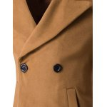 Turn-Down Collar Embroidery Double-Breasted Woolen Coat deal