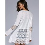 Simple Design Long Sleeve White Cardigan deal
