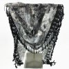cheap Feather Pendant Flower Pattern Trim Lace Triangle Scarf