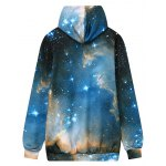 cheap Front Pocket Hooded Galaxy Hoodie