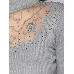Beading Embroidered Turtleneck Sweater for sale