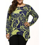 Paisley Knitted Asymmetrical Pullover