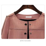 cheap Pocket Design Suede Topstitching Jacket