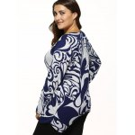 Paisley Print Knitted Asymmetrical Pullover deal