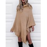 cheap Cowl Neck Poncho Sweater