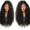 Long Curly Side Parting Lace Front High Temperature Fiber Wig deal