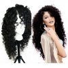 cheap Long Curly Side Parting Lace Front Synthetic Wig