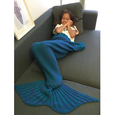 Comfortable Flounced Design Knitted Mermaid Tail Blanket пила bosch ake 35 19 s