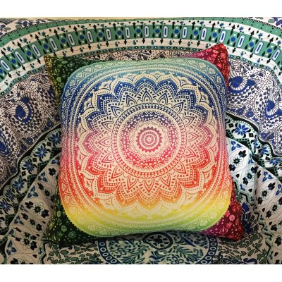 Colorful Mandala Lotus Flower Double-Faced Pillowcase
