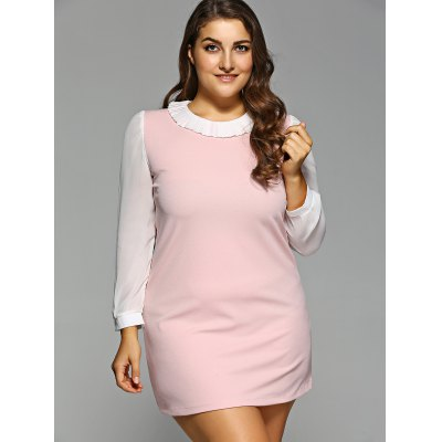 Plus Size Ruff Collar Chiffon DressPlus Size Dresses<br>Plus Size Ruff Collar Chiffon Dress<br><br>Style: Cute<br>Material: Polyester<br>Fabric Type: Chiffon<br>Silhouette: A-Line<br>Dresses Length: Mini<br>Neckline: Ruffled<br>Sleeve Length: Long Sleeves<br>Pattern Type: Others<br>With Belt: No<br>Season: Fall,Spring<br>Weight: 0.303kg<br>Package Contents: 1 x Dress