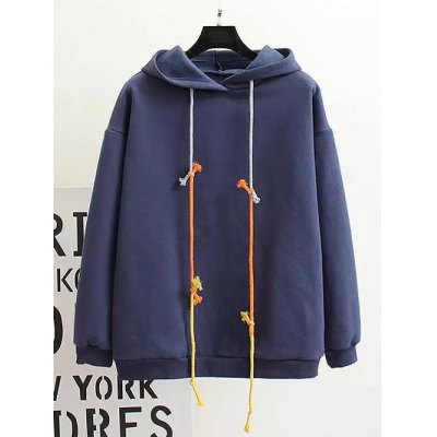Fleece Back Pattern Hoodie