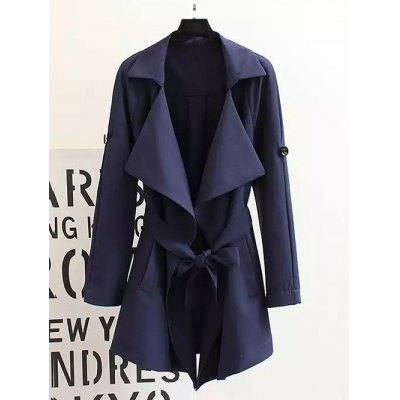 Tied Convertible Trench Coat