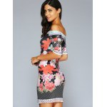 Off The Shoulder 3D Printed Bodycon Dress deal
