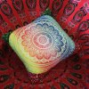 Colorful Mandala Lotus Flower Double-Faced Pillowcase deal