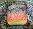 cheap Colorful Mandala Lotus Flower Double-Faced Pillowcase