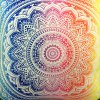 best Colorful Mandala Lotus Flower Double-Faced Pillowcase