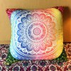 Colorful Mandala Lotus Flower Double-Faced Pillowcase for sale