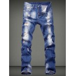 Straight Leg Distressed Jeans deal