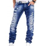Straight Leg Distressed Jeans