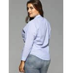 Plus Size Openwork Striped Shirt deal