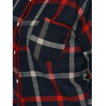 best Plus Size Checkered Print Back Buttoned Shirt