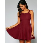 cheap Cami String Fitting Pleated Dress