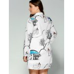 Plus Size Landscape Print Shirt Dress for sale