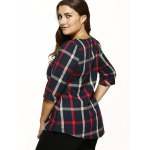Plaid Checked Loose T-Shirt for sale