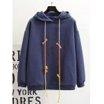 Plus Size Back Pattern Fleece Hoodie