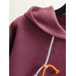 Plus Size Back Pattern Fleece Hoodie deal