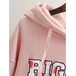 Plus Size Letter Print Long Hoodie deal