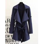 Plus Size Convertible Tied Trench Coat
