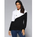 cheap Contrast Color Spliced Pocket Design Hoodie