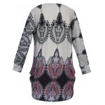 Round Collar Ethnic Print T-Shirt deal