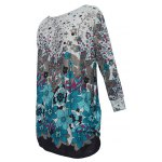 cheap Loose-Fitting Floral Print T-Shirt