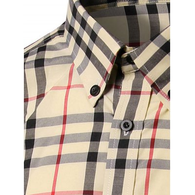 Checked Long Sleeve Button-Down Shirt