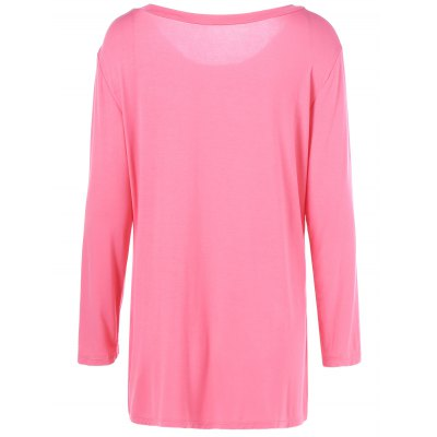 Plus Size Inclined Buttoned BlousePlus Size Tops<br>Plus Size Inclined Buttoned Blouse<br><br>Material: Cotton Blends,Spandex<br>Clothing Length: Regular<br>Sleeve Length: Full<br>Collar: Scoop Neck<br>Style: Casual<br>Season: Fall,Spring,Summer<br>Pattern Type: Solid<br>Weight: 0.252kg<br>Package Contents: 1 x Blouse