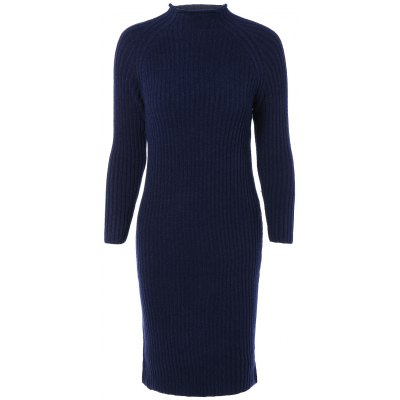 Long Sleeve Ribbed Bodycon Knitted Dress