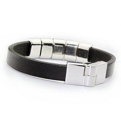 Faux Leather Ring Charm BraceletMens Jewelry<br>Faux Leather Ring Charm Bracelet<br><br>Item Type: Charm Bracelet<br>Gender: For Men<br>Chain Type: Leather Chain<br>Style: Punk<br>Shape/Pattern: Geometric<br>Weight: 0.031kg<br>Package Contents: 1 x Bracelet