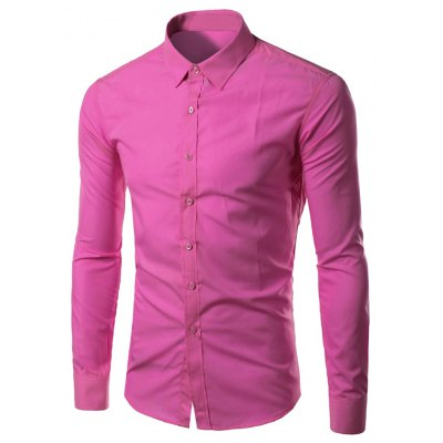 Long Sleeves Candy Color Formal Shirts