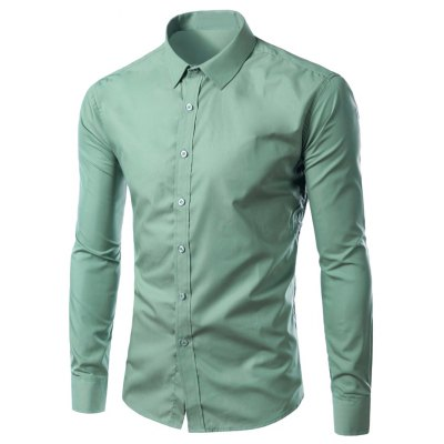 Long Sleeves Candy Color Formal Shirt